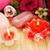 toalhas · flores · velas · textura · fogo · rosa - foto stock © ruzanna