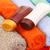 toalhas · xampu · garrafas · colorido · praia · laranja - foto stock © ruzanna