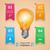 lamp · iconen · 3D · witte · glas · groene - stockfoto © rwgusev