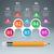 üzlet · infografika · ceruza · ikon · 3D · infografika - stock fotó © rwgusev