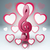 music hearts valentines day treble clef icon stock photo © rwgusev