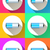 battery icon on the color background stock photo © rwgusev