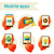 iconen · online · winkelen · idee · social · media · ingesteld · web - stockfoto © sabelskaya