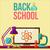 Снова · в · школу · столе · школьные · принадлежности · Creative · дизайна · Элементы - Сток-фото © sabelskaya