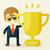 gouden · trofee · beker · vector · cartoon · illustratie - stockfoto © sabelskaya