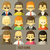 Colorful people Faces Circle Icons Set stock photo © sabelskaya