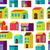 town concept background pattern seamless stock photo © sabelskaya