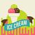 sorvete · retro · cartaz · vintage · assinar · papel - foto stock © sabelskaya