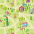 cartoon map seamless pattern with houses and roads stock photo © sabelskaya