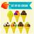 conjunto · sorvete · comida · vidro · chocolate - foto stock © sabelskaya