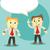 diálogo · empresários · dois · discutir · reunião · casal - foto stock © sabelskaya