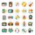 multimedia flat icons set stock photo © sabelskaya