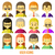kleurrijk · mensen · gezichten · cirkel · modieus - stockfoto © sabelskaya
