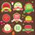 karácsony · díszek · vektor · szett · virágzik · terv - stock fotó © sabelskaya