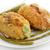 azul · frango · jantar · garfo · salada · almoço - foto stock © saddako2