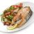 salmón · patatas · verde · chícharos · placa · almuerzo - foto stock © saddako2