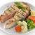 mariscos · salmón · porción · hortalizas · peces · cena - foto stock © saddako2