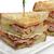 clubsandwich · geïsoleerd · witte · groene · brood · kaas - stockfoto © saddako2