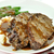 carne · pão · batatas · vagens · jantar · prato - foto stock © saddako2