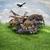 kollázs · vadállatok · madarak · természet · víz · hal - stock fotó © saddako2