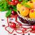 kerstboom · groenten · voedsel · abstract · achtergrond · tomaat - stockfoto © saharosa