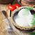 frescos · espinacas · blanco · tazón · frente · vista - foto stock © saharosa