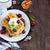 vers · gebakken · zoete · bessen · saus · tabel - stockfoto © saharosa