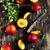 maturo · succosa · piatto · vecchio · legno · salute - foto d'archivio © saharosa