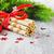 クリスマス · シンボル · バケット · シャンパン · ボトル · 花輪 - ストックフォト © saharosa