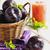 ripe plums and plum juice stock photo © saharosa
