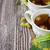 hárs · tea · üveg · citrus · díszített · koszorú - stock fotó © saharosa