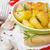 sült · krumpli · házi · készítésű · burgonyaszirom · fűszeres · mártás - stock fotó © saharosa