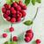 ripe juicy raspberries in a glass bowl stock photo © saharosa