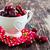 cerises · vieux · table · fraîches · juteuse · alimentaire - photo stock © saharosa