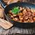 frito · fatias · carne · cebola · temperos · frigideira - foto stock © saharosa