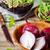 szeletel · vöröshagyma · fekete · tányér · izolált · fehér - stock fotó © saharosa