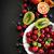 üst · görmek · olgun · meyve · plaka · turuncu - stok fotoğraf © saharosa