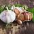 голову · чеснока · травы · деревянный · стол · здоровое · питание · деревенский - Сток-фото © saharosa