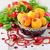 naranja · Navidad · decoraciones · rama · colgante · pino - foto stock © saharosa