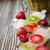 fagyott · bogyók · makró · kilátás · vörös · ribiszke · áfonya - stock fotó © saharosa
