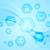 blue hi tech wavy background stock photo © saicle