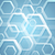 abstract bright blue hexagons tech background stock photo © saicle
