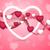 aranyos · rózsaszín · vektor · szívek · textúra · valentin · nap - stock fotó © saicle