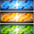 colourful banners with geometrical elements stock photo © saicle