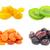 aszalt · gyümölcsök · gyűjtemény · ananász · áfonya · gyümölcs - stock fotó © sailorr