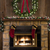 christmas fireplace hearth with wreath and stockings stock photo © saje
