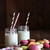 Glass jars with straws and macaroons stock photo © Sandralise