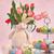 Easter · Bunny · roze · tulpen · Pasen · voorjaar · kunst - stockfoto © sandralise