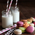 Macaroons with jar glasses and straws stock photo © Sandralise