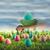 Пасху · яйца · области · трава · синий · небе - Сток-фото © sandralise